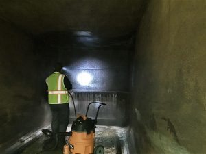 Compactor Washout 3